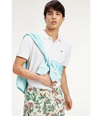polera polo classics solid stretch blanco tommy jeans