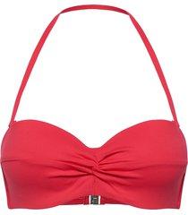 seafolly twist front bustier bandeau bikinitop röd seafolly