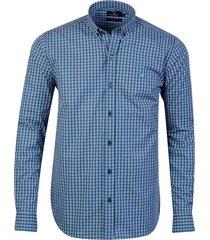 camisa azul brooksfield brighton cuadros 11