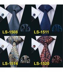 tie hanky cufflink set for men