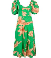 orchid dance midi dress