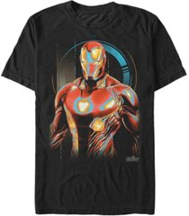 marvel men's avengers infinity war ironman glowing short sleeve t-shirt