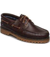rough 3-eye lth marstrand sko båtskor skor brun marstrand