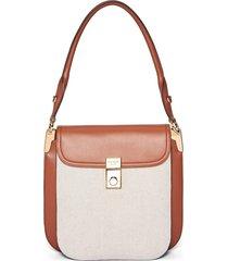 prada linen shoulder bag - neutrals