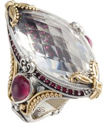konstantino pythia crystal cocktail ring, size 6 in silver/crystal at nordstrom