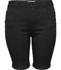 caraugusta life hw sk long shorts black shorts denim shorts svart only carmakoma