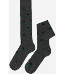 calzedonia marvel pattern cotton long socks man grey size tu