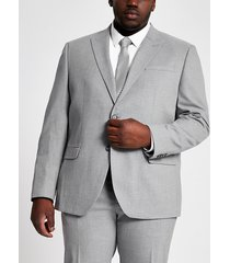 river island mens big and tall grey skinny fit suit jacket