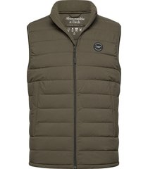 puffer vest vest groen abercrombie & fitch