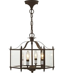 livex livingston 4-light convertible pendant/ceiling mount
