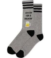 hot sox men's cruisin for a brewsin crew socks