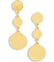 women's karine sultan coin linear drop earrings