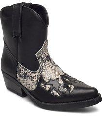 kiruna shoes boots ankle boots ankle boot - heel svart shoe biz