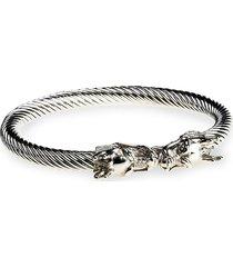 jean claude men's dell arte stainless steel bracelet