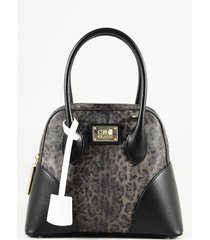 class roberto cavalli designer handbags, animal print leather bowler bag