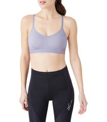 b.tempt'd by wacoal b.active sports bralette, size medium in lilac gray at nordstrom