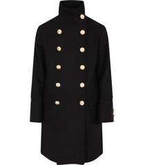 msgm black double breast girl coat