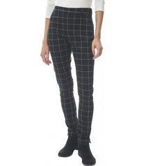 pantalón regular negro cuadros corona