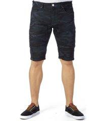 men's stretch moto denim shorts