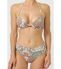 bikini admas 2-delige set voorgevormde bikini paisley wit
