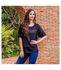chiffon blouse, 'beautiful day in black' (thailand)