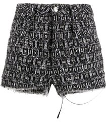 iro tweed shorts - black