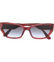 dolce & gabbana eyewear wide cat-eye sunglasses - red