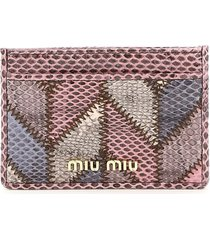 miu miu patchwork ayers card holder