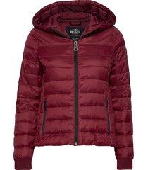 lightweight puffer jacket fodrad jacka röd hollister