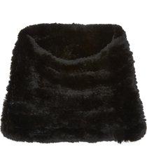 rex rabbit fur snood scarf