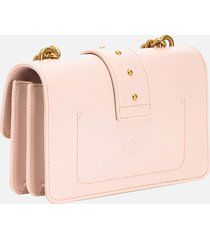 pinko women's love mini icon simply shoulder bag - rose dust pink