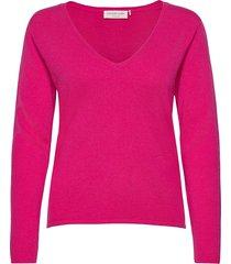 pullover ls stickad tröja rosa rosemunde