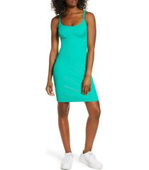 women's year of ours tyler ribbed sleeveless dress, size large - green