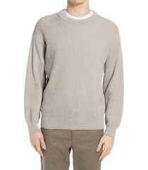 men's closed wool blend sweater, size small - grey