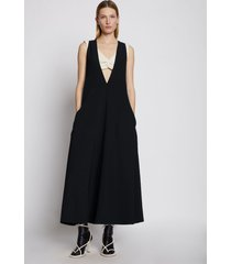 proenza schouler layered v-neck dress black 6