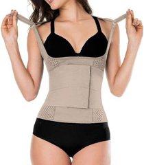 cinta faixa modeladora com compressão e sustentação postural feminina zero barriga