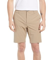men's faherty all day 9-inch shorts, size 42 - brown