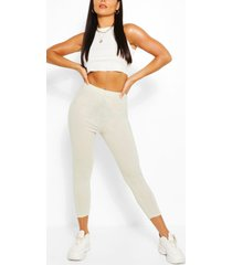 basic cropped jersey legging, ice