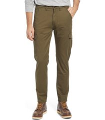 lee regular tapered leg twill cargo pants, size 29 x 32 in olive green at nordstrom