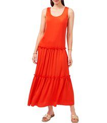women's vince camuto sleeveless tiered maxi dress, size medium - pink