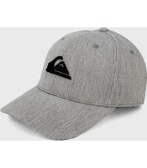 gorra gris-negro quiksilver decades