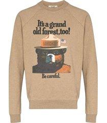 phipps smokey bear graphic sweatshirt - neutrals