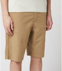 universal works men's ripstop cotton loose shorts - sand - w36