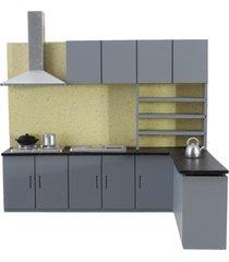 casa de muñecas simulación cocina conjunto modelo kit muebles 1:25