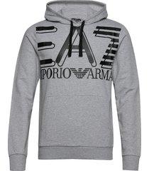 sweatshirt hoodie grå ea7