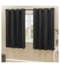 cortina blackout pvc preto corta luz 2,80m x 2,30m