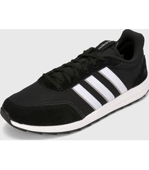 tenis lifestyle negro-blanco adidas performance retrorun,