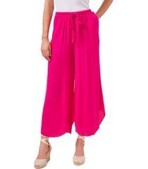 1.state elastic waist wide leg pants