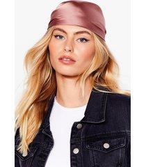womens sleeking our mind satin headscarf - mink