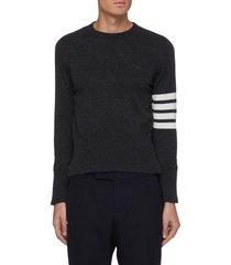 four bar stripe crewneck sweater